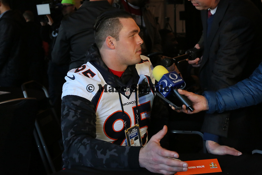 DE Derek Wolfe (Broncos) - Super Bowl 50 Denver Broncos PK, Marriott Santa Clara