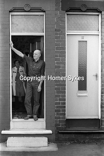 Retired miner and wife. South Kirkby Colliery Yorkshire England. 1979