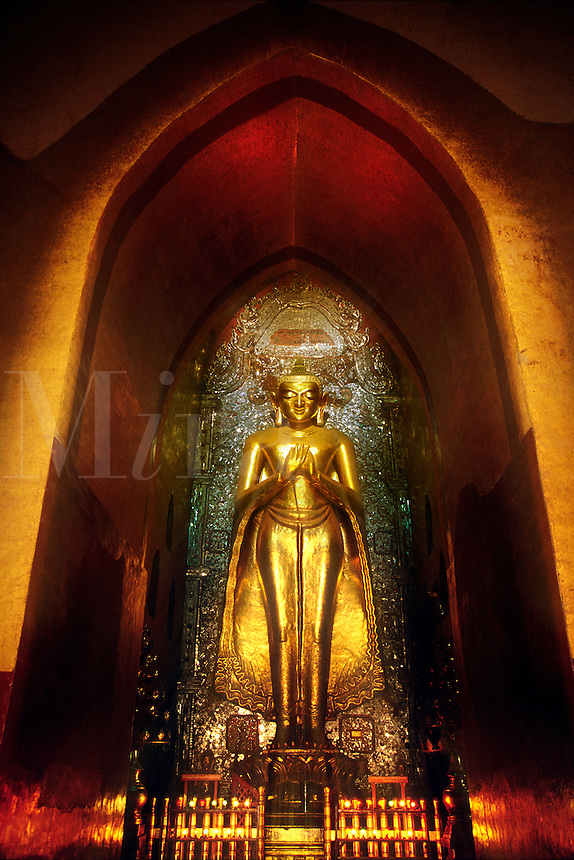 Buddha Altar Ananda Temple Bagan Pagan Myanmar Burma