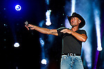 Tim McGraw performs at LP Field during Day 1 of the 2013 CMA Music Festival in Nashville, Tennessee.