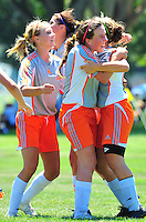RAGE U15 Premier plays during the RAGE College Showcase 2010 in Pleasanton California July 25, 2010. (Photo by Alan Greth)
