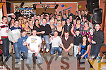 KEY OF THE DOOR: Daniel Conway (seated centre) celebrated his 21st birthday in Quilters Bar, Lixnaw, on Saturday night with family and friends.   Copyright Kerry's Eye 2008
