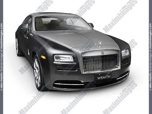 2014 Rolls-Royce Wraith British luxury car isolated on white background with clipping path
