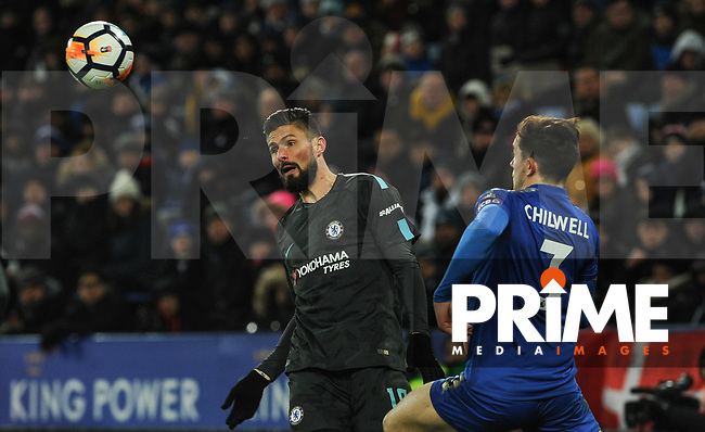 Olivier Giroud of Chelsea during the FA Cup QF match between Leicester City and Chelsea at the King Power Stadium, Leicester, England on 18 March 2018. Photo by Stephen Buckley / PRiME Media Images.