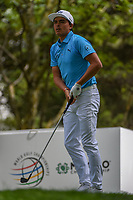 Rickie Fowler (USA) watches his tee shot on 16 during round 3 of the World Golf Championships, Mexico, Club De Golf Chapultepec, Mexico City, Mexico. 2/23/2019.<br /> Picture: Golffile | Ken Murray<br /> <br /> <br /> All photo usage must carry mandatory copyright credit (© Golffile | Ken Murray)