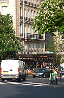 Café in the Bastille area,Paris, France.