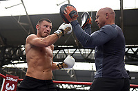 Liam Williams during a Public Workout at Old Spitalfields Market on 9th July 2019