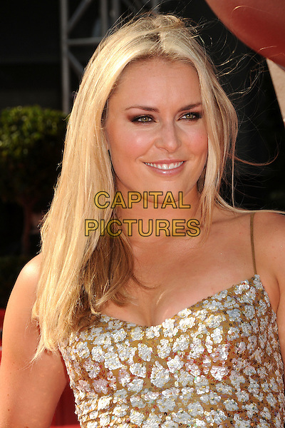 Lindsey Vonn.2011 ESPY Awards - Arrivals held at Nokia Theatre L.A. Live, Los Angeles, California, USA..July 13th, 2011.headshot portrait sequins sequined silver brown.CAP/ADM/BP.©Byron Purvis/AdMedia/Capital Pictures.