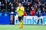 Stockholm 2014-04-06 Fotboll Allsvenskan Djurg&aring;rdens IF - Halmstads BK :  <br /> Halmstads Jesper Westerberg deppar efter 3-0 av Djurg&aring;rdens Amadou Jawo<br /> (Foto: Kenta J&ouml;nsson) Nyckelord:  Djurg&aring;rden DIF Tele2 Arena Halmstad HBK depp besviken besvikelse sorg ledsen deppig nedst&auml;md uppgiven sad disappointment disappointed dejected