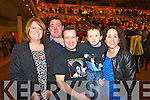 Pictured at Elvis concert at the INEC, Killarney, on Saturday were l-r: Ann Marie Casey (Faha) Padraig Casey (Faha) Stephen O'Donoghue (Listry) Cathal O'Donoghue (Listry) and Caitríona O'Donoghue (Listry).