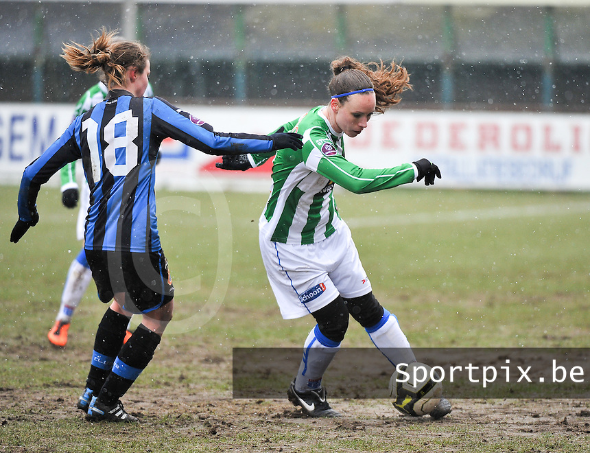 Club Brugge Dames - PEC Zwolle : Kelly Gilissen .foto DAVID CATRY / Vrouwenteam.be