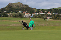 Tiernan McLarnon from Ireland on the 17th during Round 2 Singles of the Men's Home Internationals 2018 at Conwy Golf Club, Conwy, Wales on Thursday 13th September 2018.<br /> Picture: Thos Caffrey / Golffile<br /> <br /> All photo usage must carry mandatory copyright credit (&copy; Golffile | Thos Caffrey)