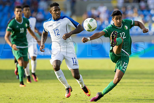 04.08.2016. Rio de Janeiro, Brazil. Kyoto Honduras and Benguit Algeria during the match between Honduras (HON) and Algeria (ARG) Group D Olympic Mens Football Rio 2016 Olympics held in the Olympic Stadium in the host city Rio de Janeiro.