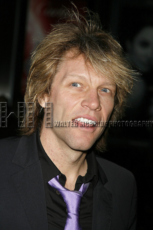 Jon Bon Jovi.attending the Opening Night of Warner Bros. Theatre Ventures' Inaugural production of LESTAT at the Palace Theatre with an after party at Time Warner Center in New York City. .April 25, 2006 .© Walter McBride/WM Photography