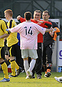25/04/2009  Copyright Pic: James Stewart.sct_jspa10_partick_v_livingston.PARTICK'S LIAM BUCHANAN IS CONGRATULATED BY HIS MANAGER IAIN MCCOLL AT THE END OF THE GAME.James Stewart Photography 19 Carronlea Drive, Falkirk. FK2 8DN      Vat Reg No. 607 6932 25.Telephone      : +44 (0)1324 570291 .Mobile              : +44 (0)7721 416997.E-mail  :  jim@jspa.co.uk.If you require further information then contact Jim Stewart on any of the numbers above.........