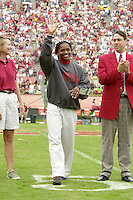 Hall of Fame inductee Sonja Henning during Stanford's victory over UCLA on October 27, 2001 at Stanford Stadium.<br />