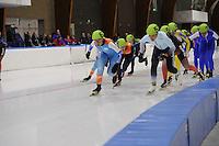 SCHAATSEN: LEEUWARDEN: 30-09-2015, Elfstedenhal, 1e competitiewedstrijd Mass Start, ©foto Martin de Jong