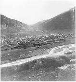 Panorama of Silverton from SE location across Las Animas River.  The D&amp;RGW yards and depot area are the closest to the camera.<br /> D&amp;RGW  Silverton, CO