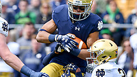 Wide receiver Equanimeous St. Brown (6) catches a pass in the first quarter.