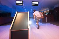 01 June 2010: Joris Bert of Rouen playing bowling the day before the start of the 2010 Baseball European Cup in Brno, Czech Republic.