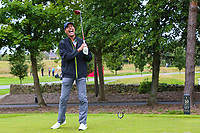 Chris Kamara during the Graham Wylie Foundation- Have A Heart- golf day with Lee Westwood and Ronan Keating at Close House Golf Club, Heddon on the wall, England on 10 September 2018. Photo by Thomas Gadd.