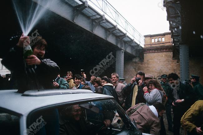 Opening of the Berlin Wall, West Berlin, Germany, November 1989.