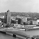 Pittsburgh PA:  View of Pittsburgh's uptown with the Smithfield Street in the foreground - 1962