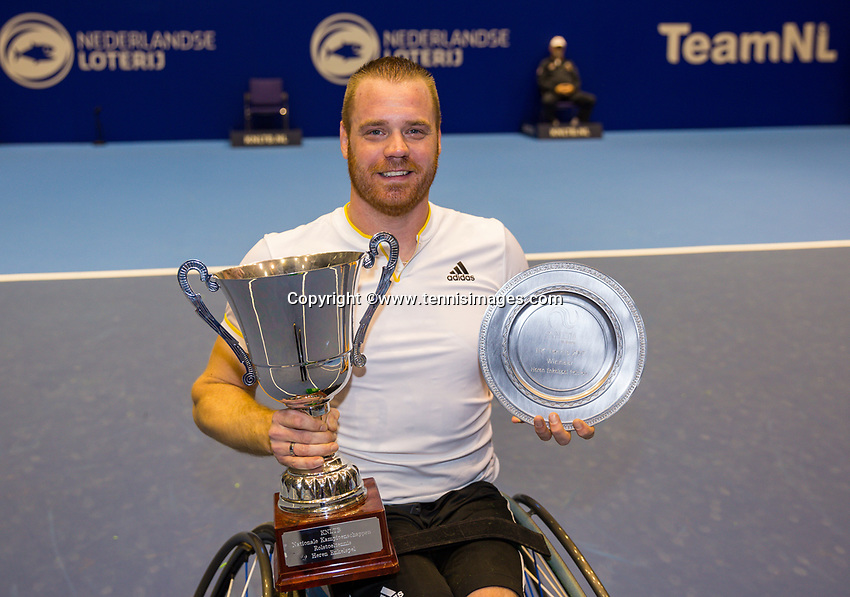 Rotterdam, Netherlands, December 17, 2017, Topsportcentrum, Ned. Loterij NK Tennis, Final man's single wheelchair: Winner Maikel Scheffers (NED) <br /> Photo: Tennisimages/Henk Koster