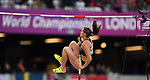 Alysha Newman (CAN) in the womens pole vault. IAAF world athletics championships. London Olympic stadium. Queen Elizabeth Olympic park. Stratford. London. UK. 06/08/2017. ~ MANDATORY CREDIT Garry Bowden/SIPPA - NO UNAUTHORISED USE - +44 7837 394578