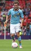 Men's Olympic Football match Spain v Japan on 26.7.12...Juan Matra of Spain, during the Spain v Japan Men's Olympic Football match at Hampden Park, Glasgow..................