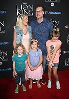 05 August 2017 - Los Angeles, California - Tori Spelling, Dean McDermott, Finn Davey McDermott, Hattie Margaret McDermott, Stella Doreen McDermott. &quot;The Lion King&quot; Sing-Along Screening. <br /> CAP/ADM/FS<br /> &copy;FS/ADM/Capital Pictures