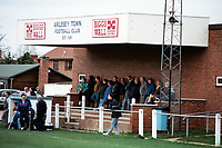 The main stand at Arlesey Town Football Club