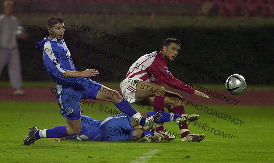 SPORT FUDBAL KUP UEFA CRVENA ZVEZDA ZENIT Bosko Jankovic 30.09.2004. foto: Pedja Milosavljevic