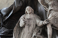 Tomb of Jean-Baptiste Joseph LANGUET de Gergy (detail), 1677-1753, by Rene Michel SLODTZ, 1705-64, Eglise Saint-Sulpice (St Sulpitius' Church), c.1646-1745, late Baroque church on the Left Bank, Paris, France. Jean-Baptiste Joseph LANGUET de Gergy was a French archbishop and theologian. Picture by Manuel Cohen