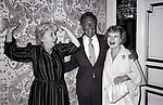 """Maureen Stapleton, Christopher Plummer and Glynnis Johns attend a Press junket for 'Little Gloria... Happy at Last"""" at the Plaza Hotel on September 11, 1982 in New York City."""