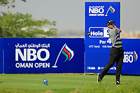 Bradley Neil (SCO) during the first round of the NBO Open played at Al Mouj Golf, Muscat, Sultanate of Oman. <br /> 15/02/2018.<br /> Picture: Golffile | Phil Inglis<br /> <br /> <br /> All photo usage must carry mandatory copyright credit (&copy; Golffile | Phil Inglis)