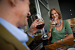 John Broomfield and Katharine Zambetti wine and dine outside at Miller Union, photographed for Choice Tables on Wednesday, April 20, 2011 in Atlanta.  (Rich Addicks/Photographer) 10110950A