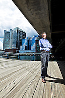 Ted Morgan pictures: Executive portrait photography of Ted Morgan of Skyhook in Boston by San Francisco corporate photographer Eric Millette