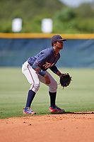 GCL Twins shortstop Agustin Marte (5) during a game against the GCL Rays on August 9, 2018 at Charlotte Sports Park in Port Charlotte, Florida.  GCL Twins defeated GCL Rays 5-2.  (Mike Janes/Four Seam Images)