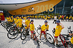 The headquarters of the 105th edition of the Tour de France are open in Mouilleron-le-Captif, the hometown of Thomas Voeckler in the outskirts of La Roche-sur-Yon, the prefecture of the Vend&eacute;e province. The 23000 square-meters Vend&eacute;space hosts the operations of the Grand D&eacute;part as well as the media centre for the three days preceding Stage1. 4th July 2018. <br /> Picture: ASO/Pauline Ballet   Cyclefile<br /> All photos usage must carry mandatory copyright credit (&copy; Cyclefile   ASO/Pauline Ballet)