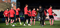 Lincoln City manager Danny Cowley during the pre-match warm-up<br /> <br /> Photographer Chris Vaughan/CameraSport<br /> <br /> The EFL Sky Bet League Two - Lincoln City v Stevenage - Saturday 16th February 2019 - Sincil Bank - Lincoln<br /> <br /> World Copyright © 2019 CameraSport. All rights reserved. 43 Linden Ave. Countesthorpe. Leicester. England. LE8 5PG - Tel: +44 (0) 116 277 4147 - admin@camerasport.com - www.camerasport.com