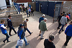 Queen of the South 2 Stranraer 0, 11/08/2015. Scottish Challenge Cup first round, Palmerston Park. Home supporters making their way out of Palmerston Park, Dumfries, after Queen of the South (in blue) hosted Stranraer in a Scottish Challenge Cup first round match. The game was the opening match of the season in a competition open to sides below the Scottish Premiership. Queen of the South won the match 2-0, watched by a crowd of 1229 spectators. Photo by Colin McPherson.