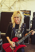 LITA FORD - photogrpahed before her live performance at the Heavy Sound Festival at Poperinge in Belgium - 10 Jun 1984.  Photo credit: PG Brunelli/IconicPix