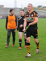 26-10-2014: Kieran Donaghy, Austin Stacks, leaves the field after the Kerry senior football County Championship final at Austin Stack Park, Tralee on Sunday.  Picture: Eamonn Keogh ( MacMonagle, Killarney)