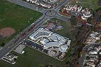 aerial photograph Casa Grande High School, Petaluma, Sonoma county, California