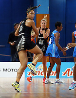 22.01.2015 Silver Ferns Phoenix Karaka in action during the netball test match between the Silver Ferns and Fiji at the Vodafone Arena in Suva Fiji. Mandatory Photo Credit ©Michael Bradley.