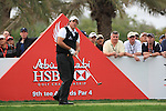Phil Mickelson teeing off on the 9th tee on day two of the Abu Dhabi HSBC Golf Championship 2011, at the Abu Dhabi golf club, UAE. 21/1/11..Picture Fran Caffrey/www.golffile.ie.