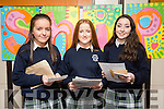 Presentation Secondary Tralee Graduations on Friday pictured l-r  Sinead Sheehan, Kate Shannon and Eva O'Connell.
