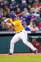 LSU Tigers designated hitter Chris Chinea (26) at bat during the Houston College Classic against the Nebraska Cornhuskers on March 8, 2015 at Minute Maid Park in Houston, Texas. LSU defeated Nebraska 4-2. (Andrew Woolley/Four Seam Images)