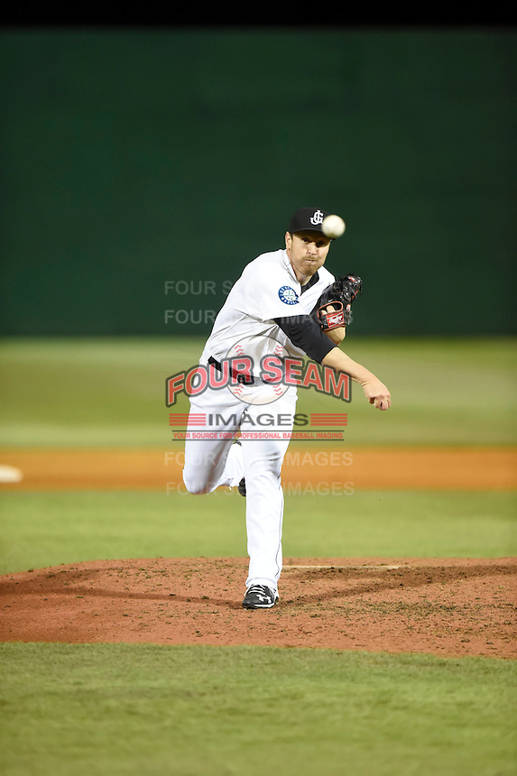 ***Temporary Unedited Reference File***Jackson Generals relief pitcher Matt Anderson (17) during a game against the Jacksonville Suns on May 4, 2016 at The Ballpark at Jackson in Jackson, Tennessee.  Jackson defeated Jacksonville 11-6.  (Mike Janes/Four Seam Images)